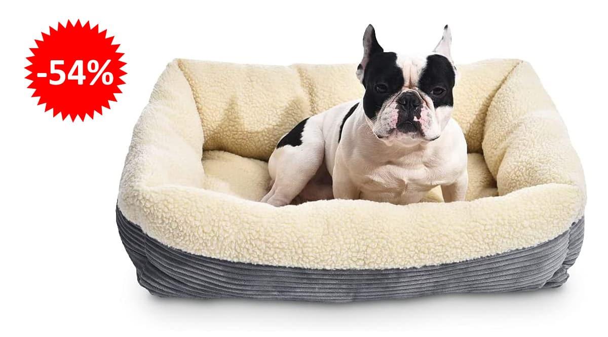 Cama para mascotas Amazon Basics barata, productos para perros baratos, ofertas para mascotas chollo