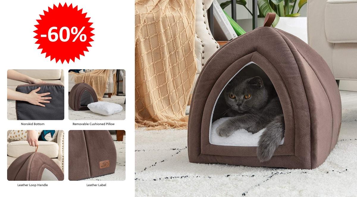 Cama para mascotas Bedsure baratas, camas baratas, ofertas para gatos chollo