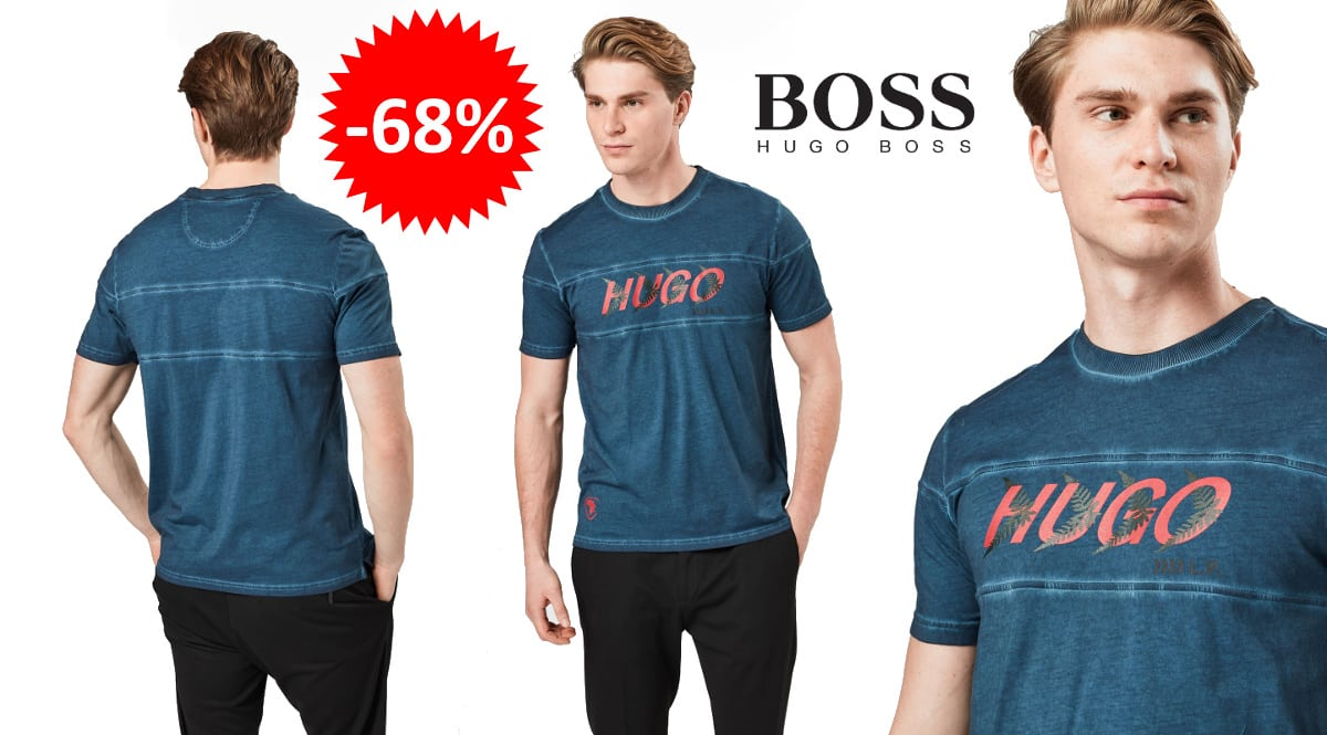 Camiseta Hugo Boss Dappel barata, ropa de marca barata, ofertas en camisetas chollo