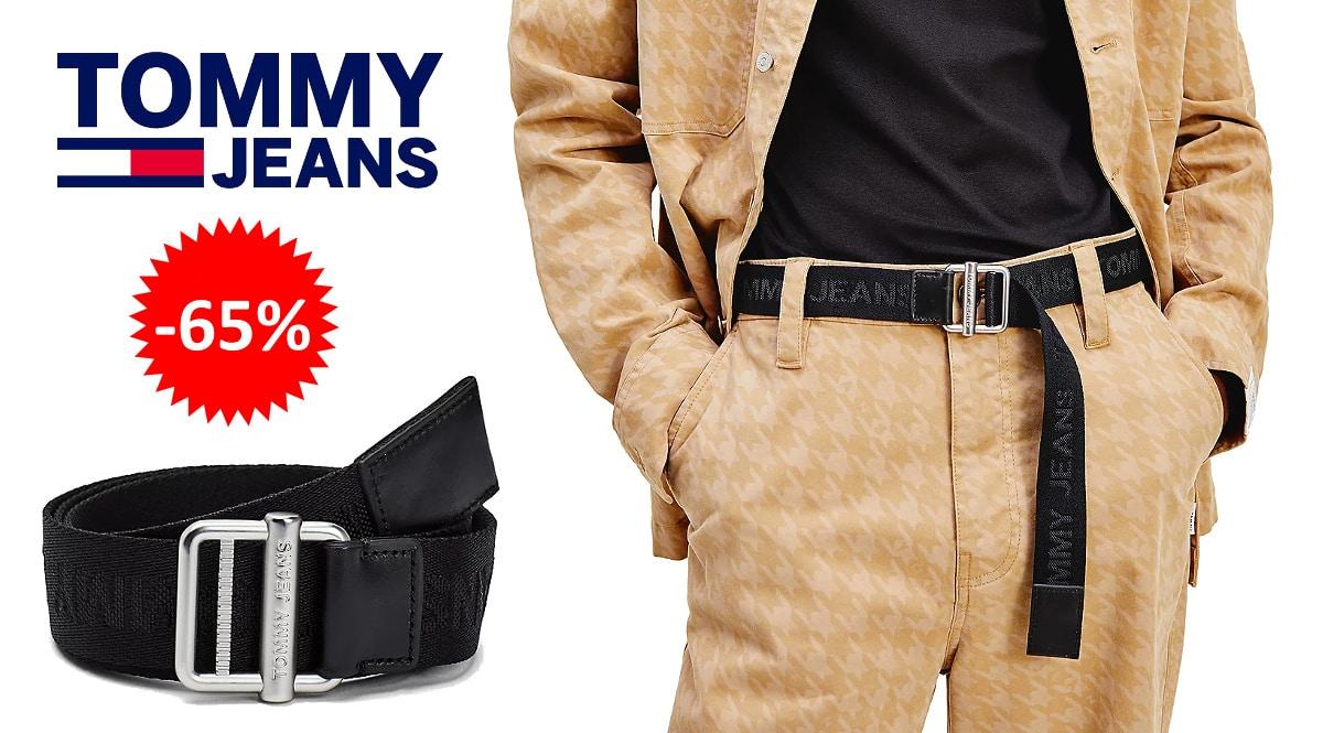 Cinturón trenzado Tommy Jeans barato, ropa de marca barata, ofertas en complementos chollo