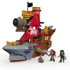 ¡Precio mínimo histórico! Fisher Price Imaginext Barco Pirata Tiburón sólo 28 euros. 52% de descuento.