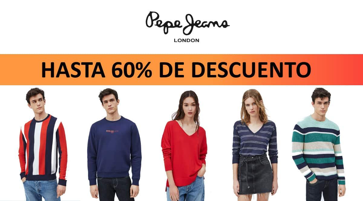 Jerseis y sudaderas Pepe Jeans baratos, ropa de marca barata, ofertas en jerseis chollo