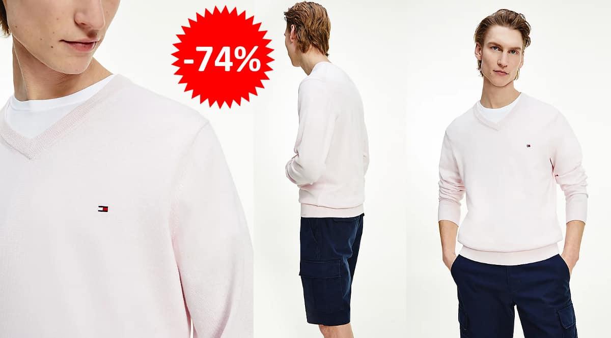 Jersey de seda Tommy Hilfiger barato, ropa de marca barata, ofertas en ropa chollo