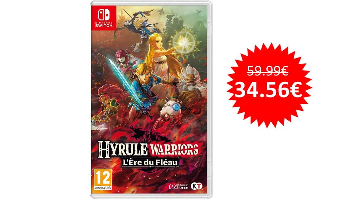 ¡Precio mínimo histórico! Juego Hyrule Warriors: La Era del Cataclismo para Nintendo Switch sólo 34 euros.