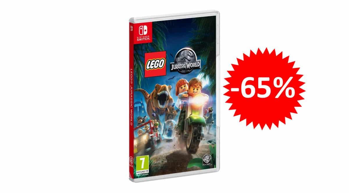 ¡Precio mínimo histórico! Lego: Jurassic World para Nintendo Switch sólo 14.15 euros. 65% de descuento.