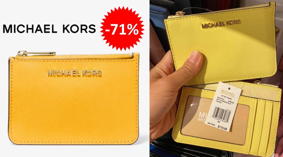 Monedero Michael Kors Jet Set Travel barato, carteras baratas, ofertas en carteras de piel chollo