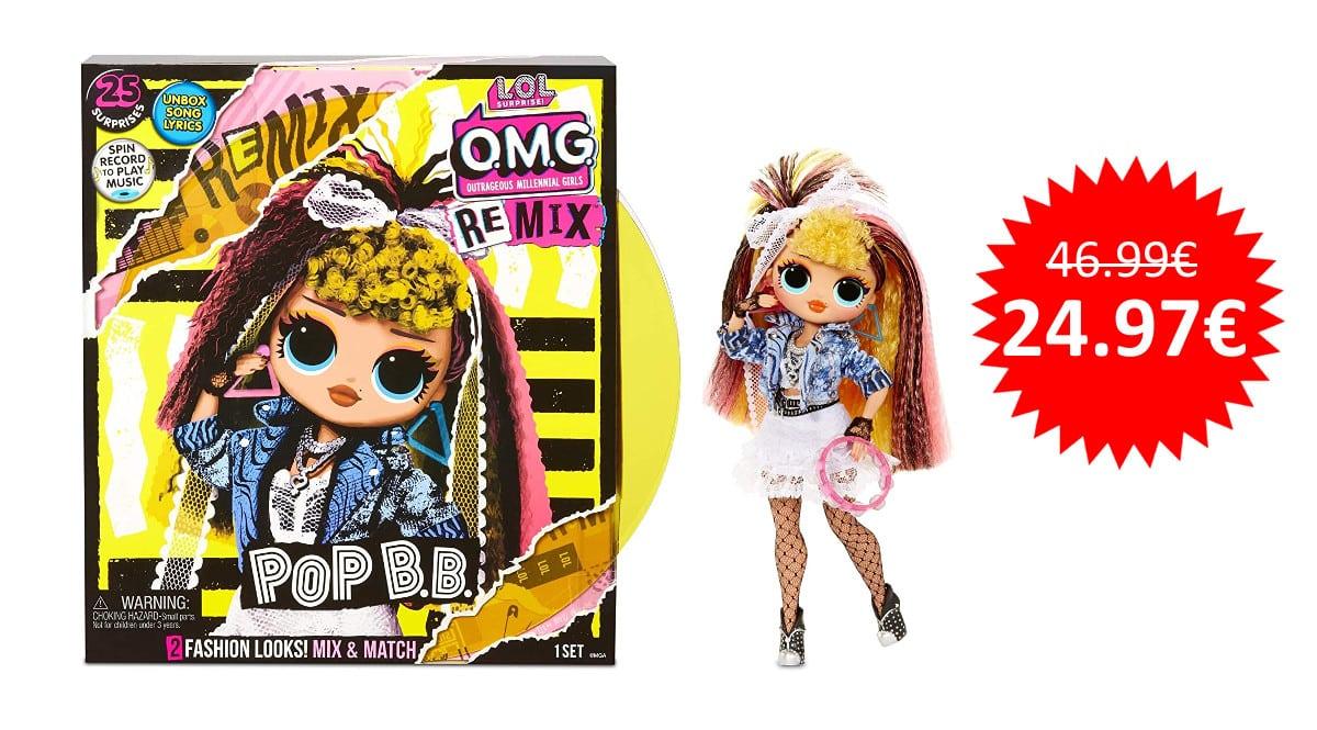 ¡Precio mínimo histórico! Muñeca LOL Surprise OMG Remix Pop BB sólo 24.97 euros.