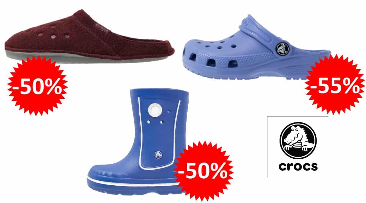 Ofertas en calzado Crocs para niño y adulto, zuecos Crocs baratos, ofertas en calzado de marca, chollo