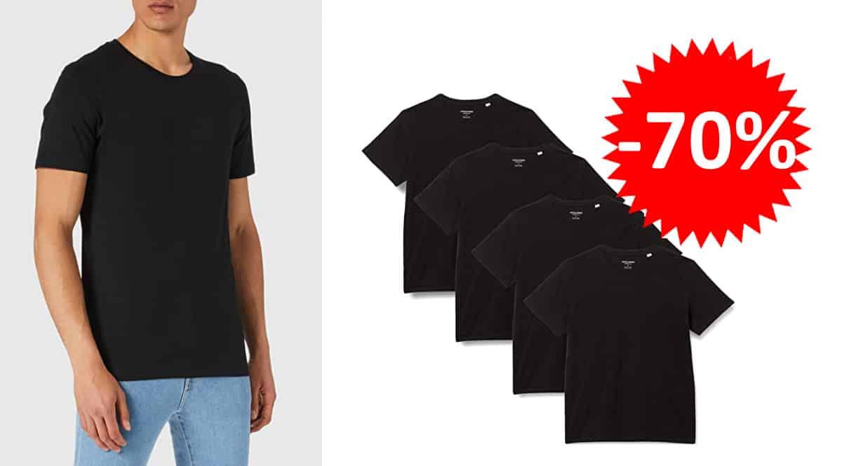 Pack-de-4-camisetas-basicas-Jack-Jones-baratas-camisetas-de-marca-baratas-ofertas-en-ropa-chollo