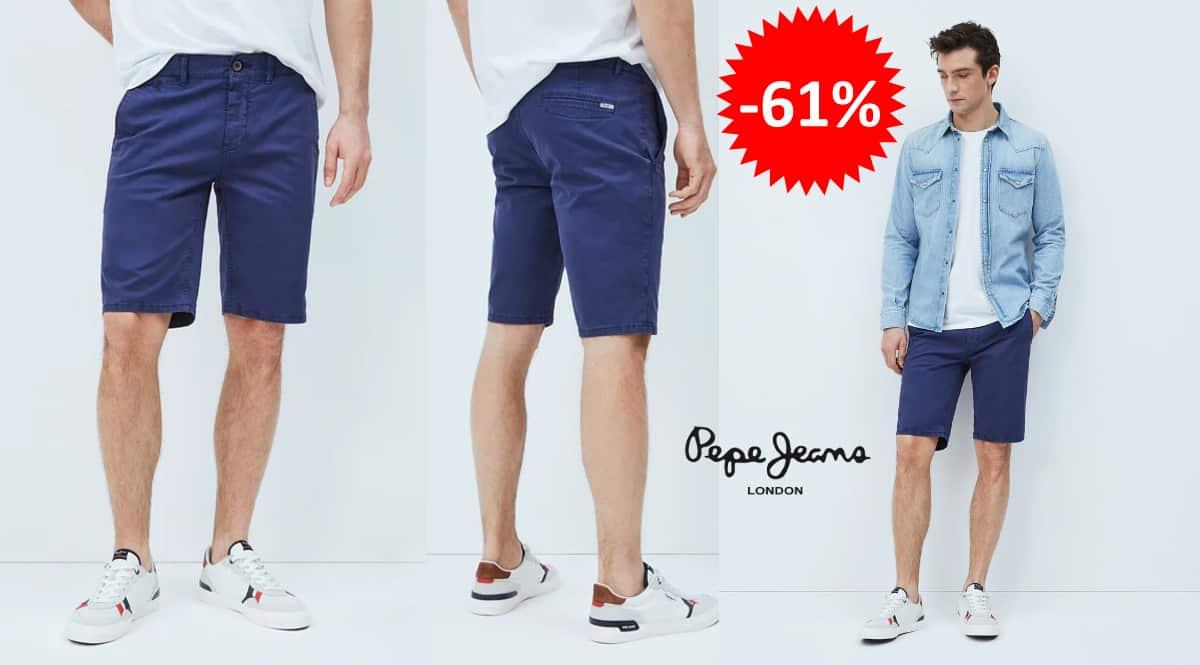 Pantalón corto Pepe Jeans Blackburn barato, ropa de marca barata, ofertas en pantalones chollo