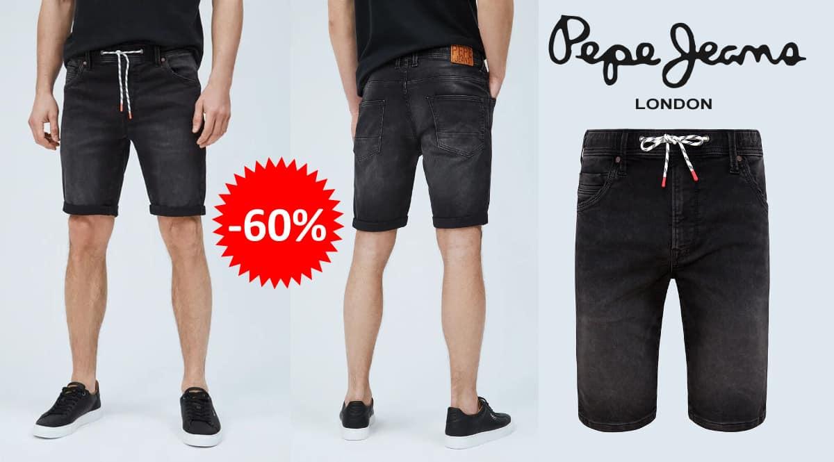 Pantalón corto Pepe Jeans Jagger barato, ropa de marca barata, ofertas en pantalones chollo
