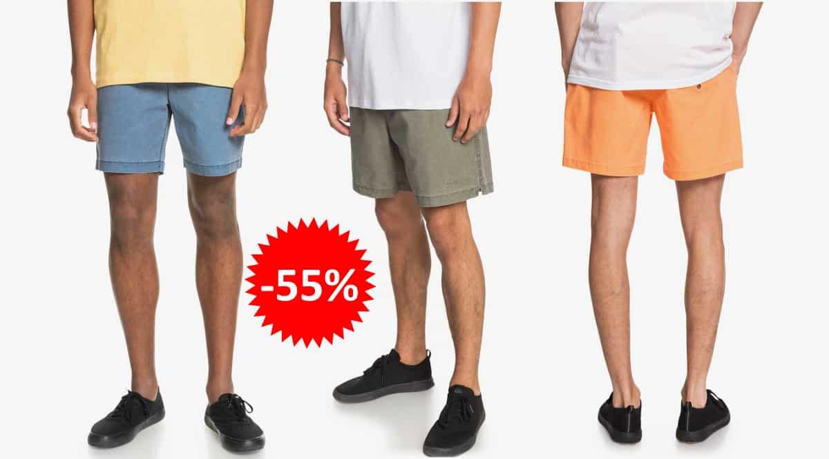Pantalón corto Quiksilver Taxer barato, ropa de marca barata, ofertas en pantalones chollo