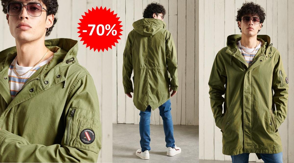 Parka Superdry Service barata, ropa de marca barata, ofertas en chaquetas chollo