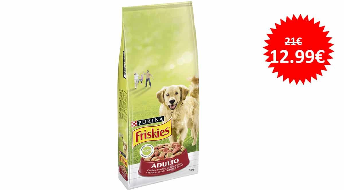 Pienso para perro Purina Friskies adulto barato, pienso para perros de marca barata, ofertas supermercado, chollo