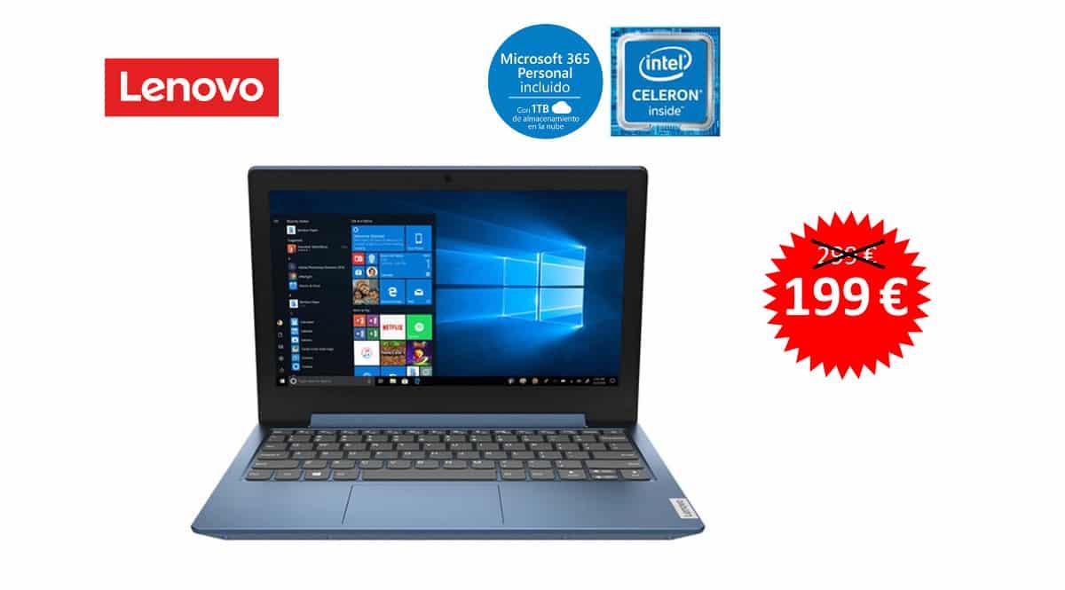 Portátil Lenovo IdeaPad 1 11IGL05 barato, ordenadores baratos, ofertas en portatiles chollo