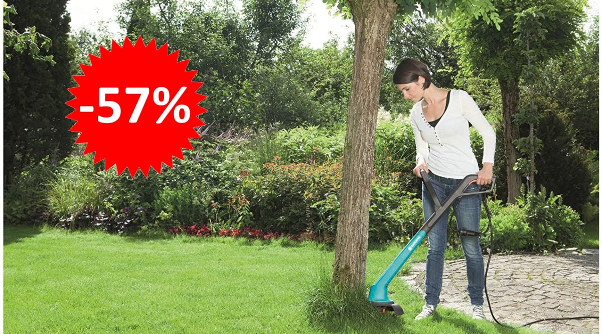 ¡Precio mínimo histórico! Recortabordes eléctrico Gardena SmallCut 300 sólo 15.06 euros. 57% de descuento.