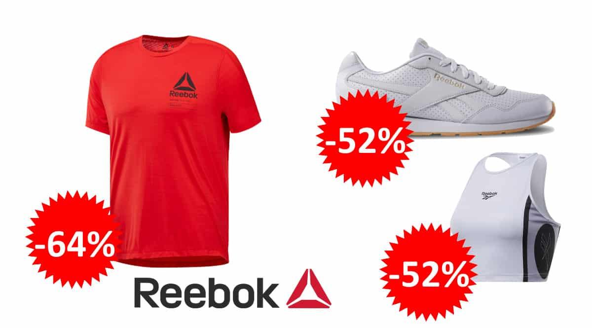 Ropa y calzado Reebok barato, ofertas en ropa de marca, zapatillas baratas, chollo