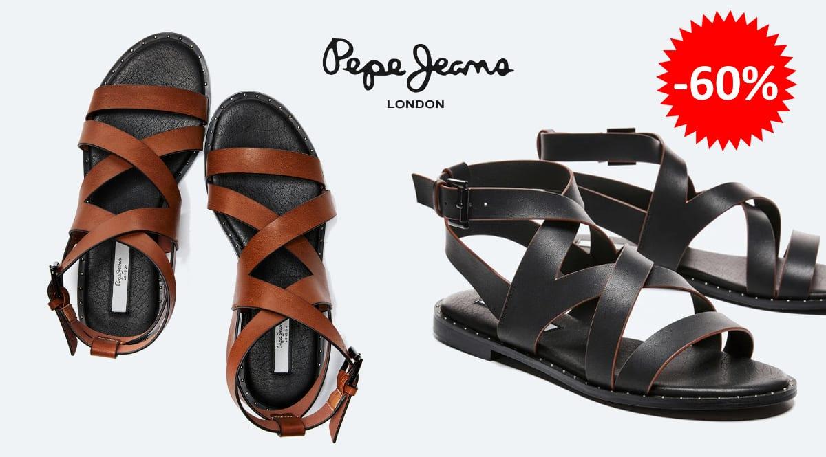 Sandalias romanas Pepe Jeans Hayes Road baratas, calzado de marca barato, ofertas en calzado chollo