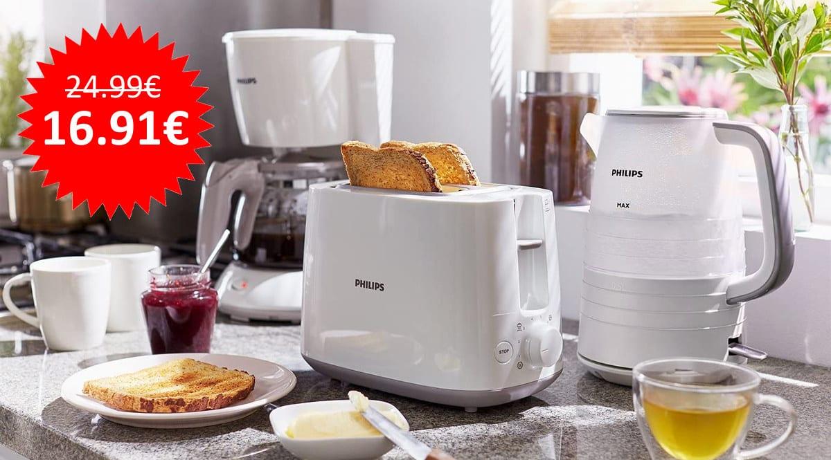 Tostador 830W Philips Daily HD2581 barato, tostadoras baratas, ofertas en electrodomesticos chollo