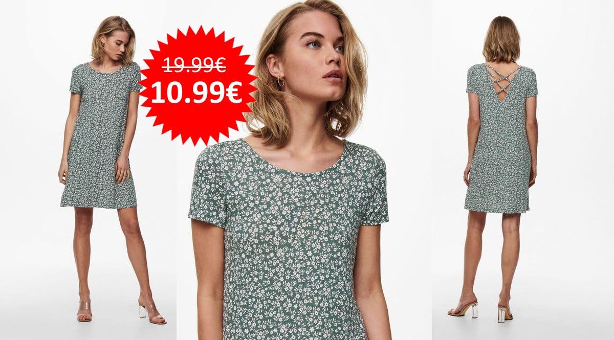 ¡Precio mínimo histórico! Vestido para mujer Only Onlbera sólo 10.99 euros.
