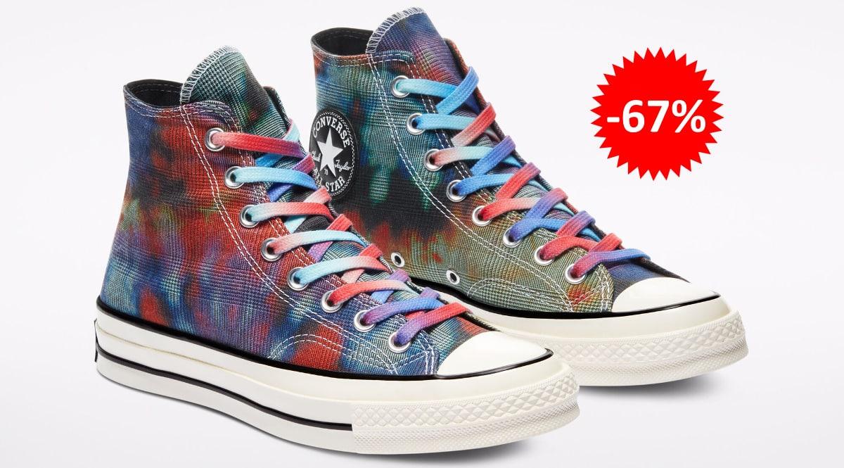 Zapatillas Converse Tie Dye Plaid baratas, calzado de marca barato, ofertas en zapatillas chollo