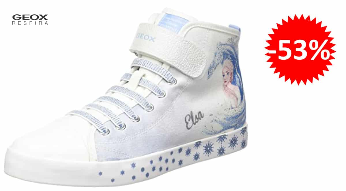 Zapatillas para niña Geox Jr Ciak Girl D Frozen baratas, zapatillas de marca baratas, ofertas en calzado, chollo