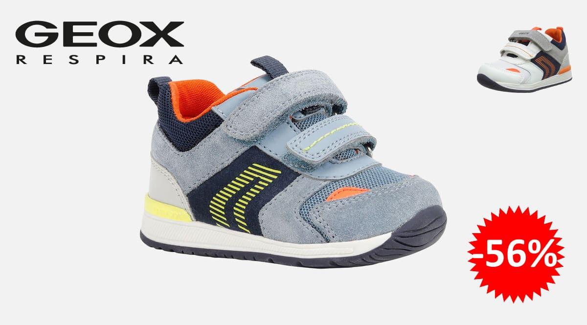 Zapatillas para niño Geox B Rishon Boy B, zapatillas primeros pasos de marca baratas, ofertas calzado para niños, chollo