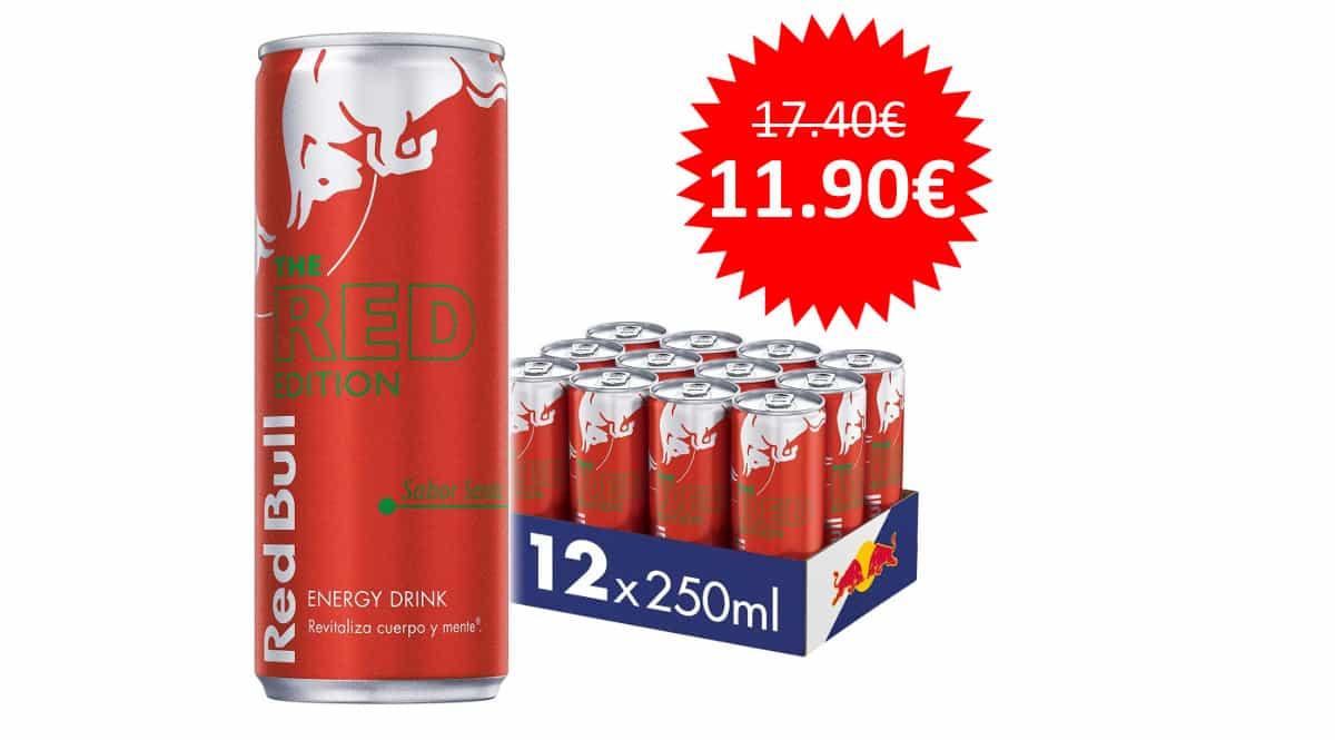 ¡Precio mínimo histórico! 12 latas (250ml cada una) de Red Bull Sandía sólo 11.90 euros.