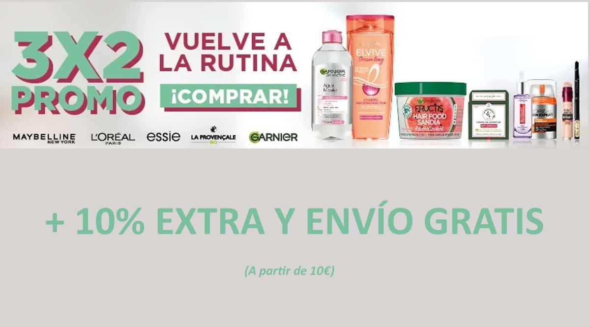 3x2 en artículos Lóreal de cuidado personal, cremas y artículos de belleza baratos, ofertas supermercado, chollo