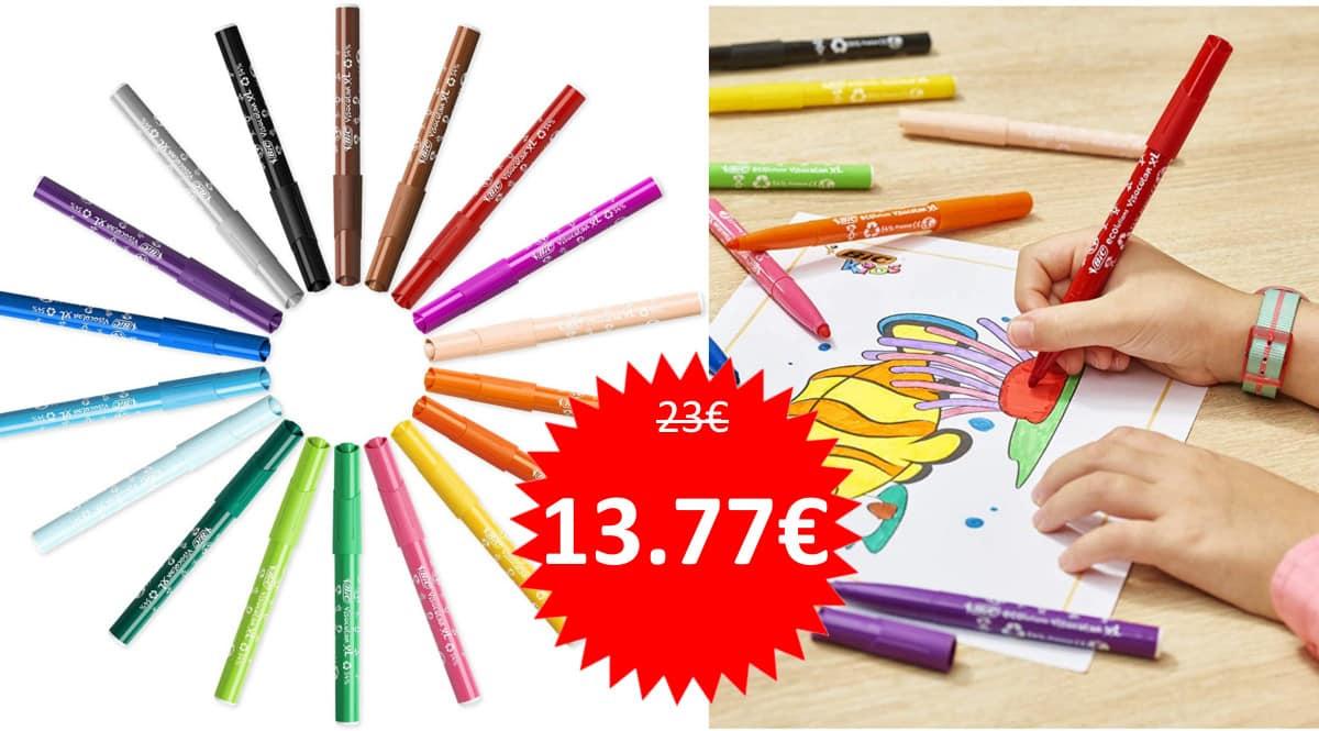 48 rotuladores BIC Kids Visacolor XL baratos. Ofertas en material escolar, material escolar barato, chollo