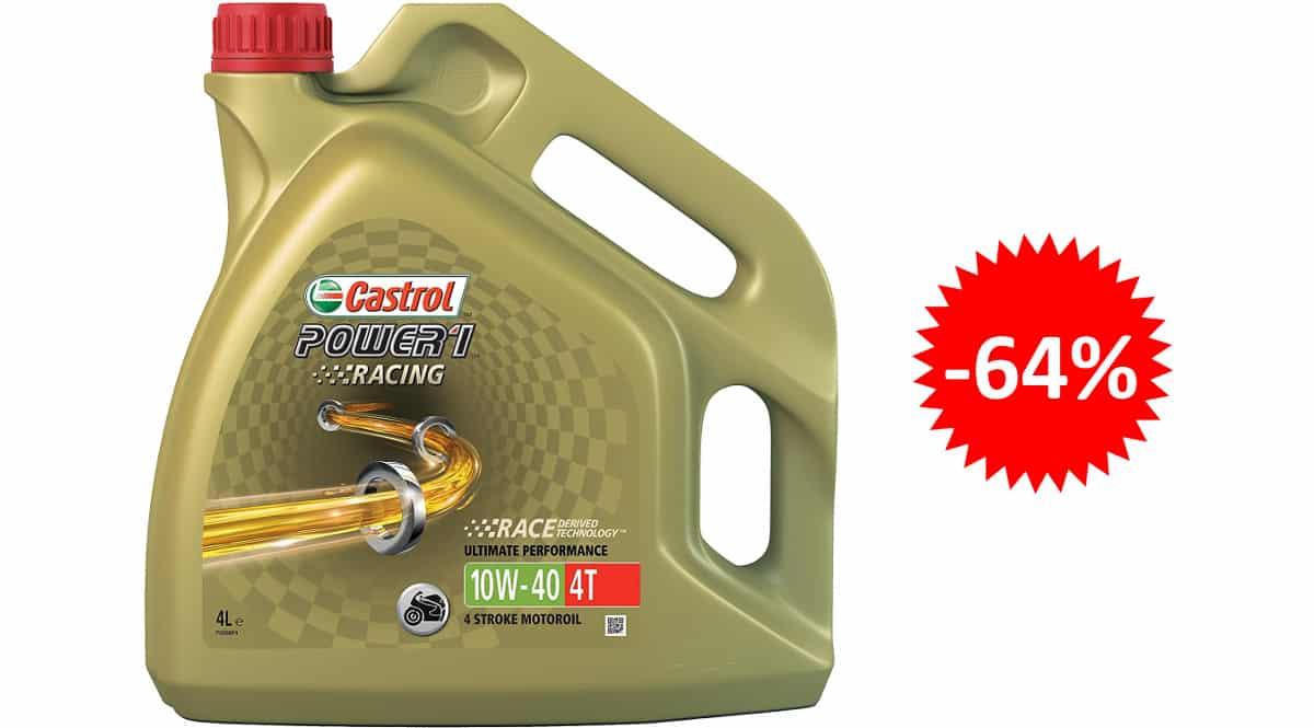 Aceite para motos Castrol Power 1 Racing barato, aceite barato, ofertas para motos chollo