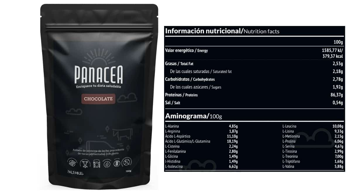 Aislado de proteína Paleobull Panacea sabor chocolate barato, proteínas de marca baratas, ofertas nutrición, chollo