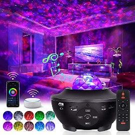 ¡Código descuento! Altavoz Bluetooth Tomshine con proyector de luz de estrellas sólo 14.49 euros. 50% de descuento.