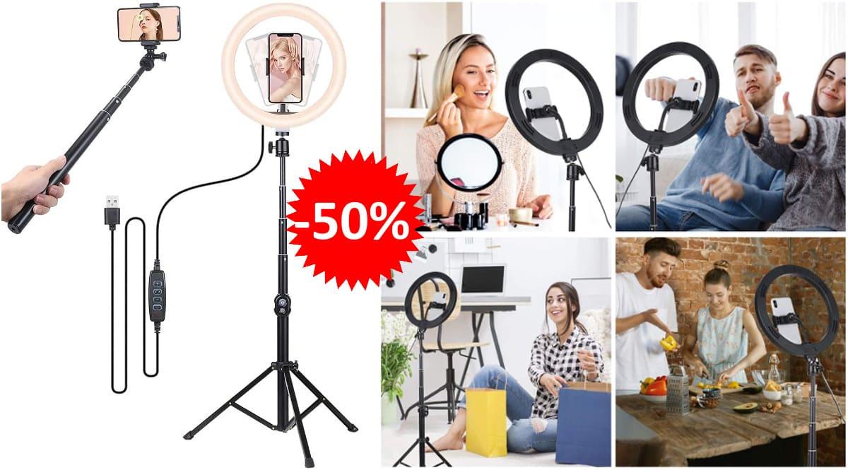 Anillo de luz Tomshine barato, anillos de luz para móvil de marca baratos, ofertas electrónica y fotografía