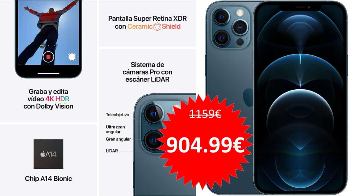 Apple iPhone 12 Pro de 128GB barato. Ofertas en móviles iPhone, móviles iPhone baratos, chollo