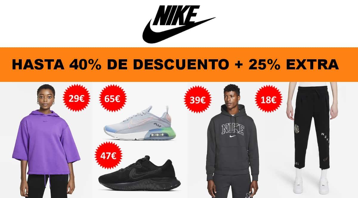 Back to school Nike, ropa de marca barata, ofertas en calzado chollo