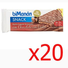 Barritas Bimanan con chocolate con leche baratas, snacks baratos, ofertas alimentación saludable