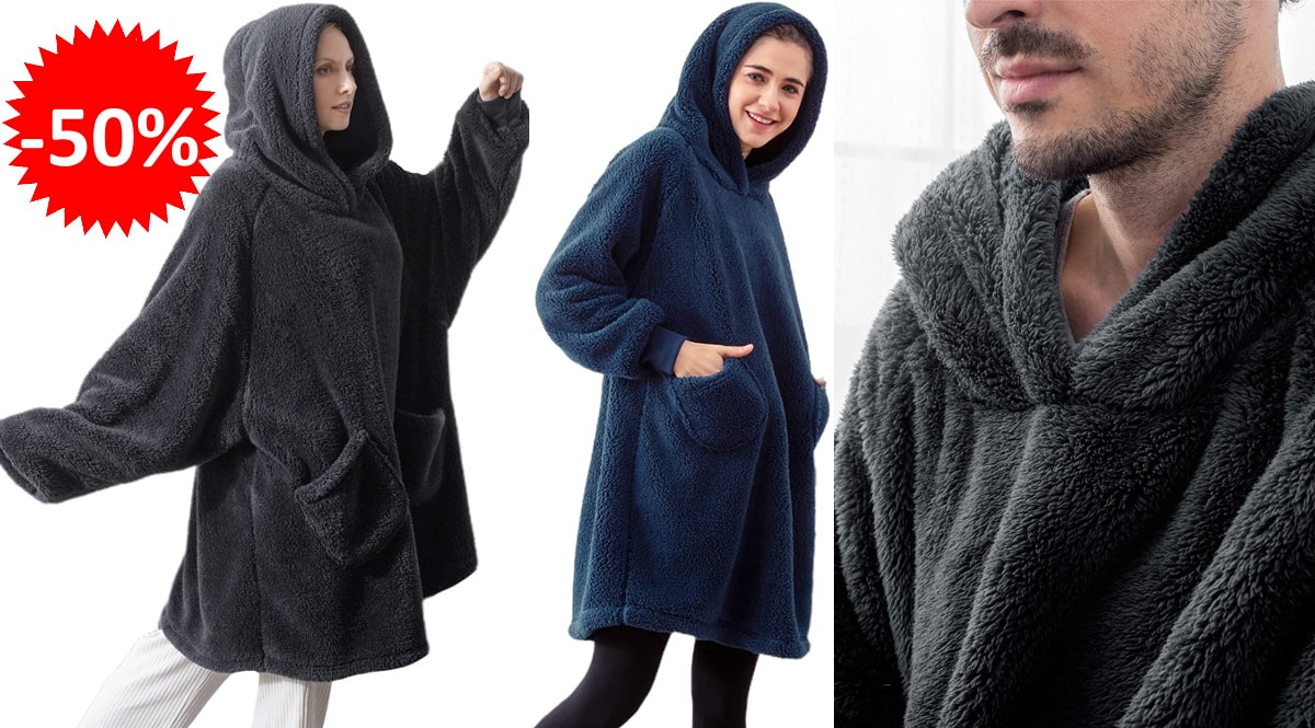Batamanta Bedsure unisex barata, batamantas de marca baratas, ofertas ropa para casa, chollo
