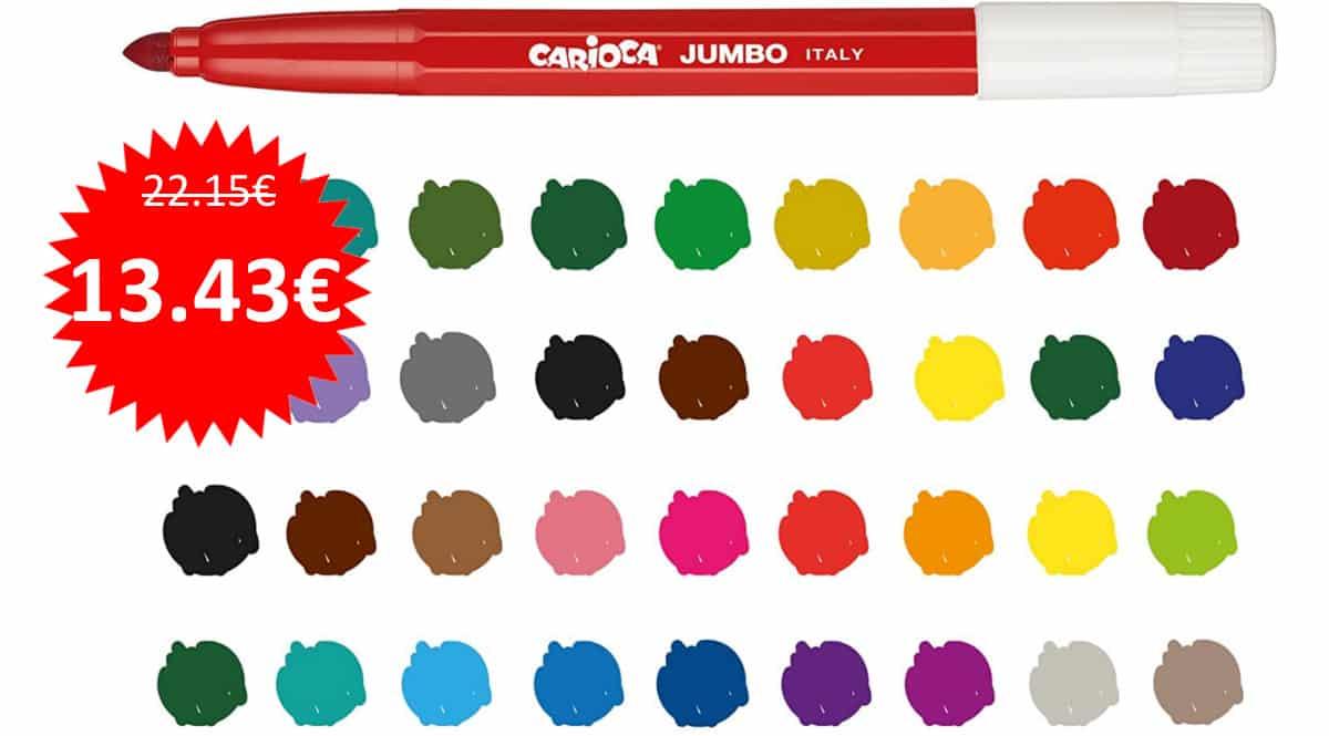 Bote de 50 rotuladores Carioca Jumbo barato. Ofertas en material escolar, material escolar barato, chollo