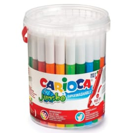 Bote de 50 rotuladores Carioca Jumbo barato. Ofertas en material escolar, material escolar barato