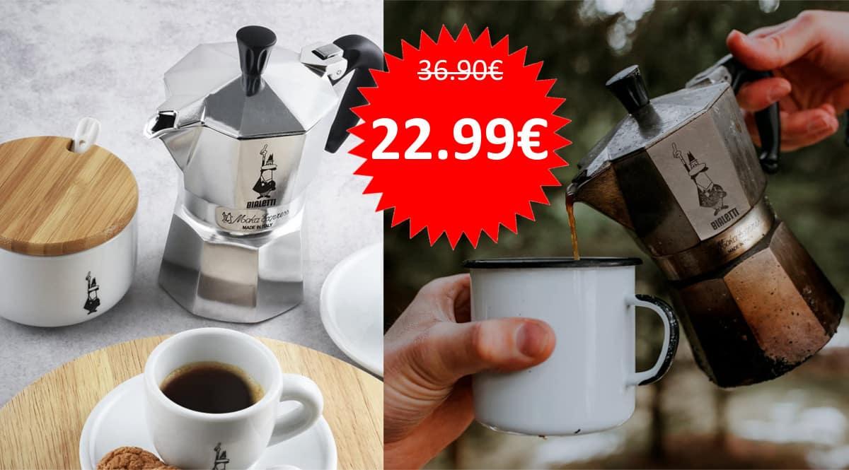 Cafetera Bialetti Moka Express de 6 tazas barata. Ofertas en cafeteras, cafeteras baratas, chollo