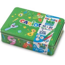 Caja rotuladores + álbum Carioca Box barata, rotuladores de marca baratos, ofertas para niños