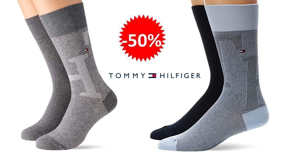 Calcetines Tommy Hilfiger Melange baratos, calcetines de marca baratos, ofertas en ropa, chollo