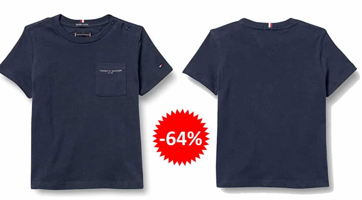 Camiseta Tommy Hilfiger Essential Pocket para niños barata, ropa de marca barata, ofertas en camisetas chollo