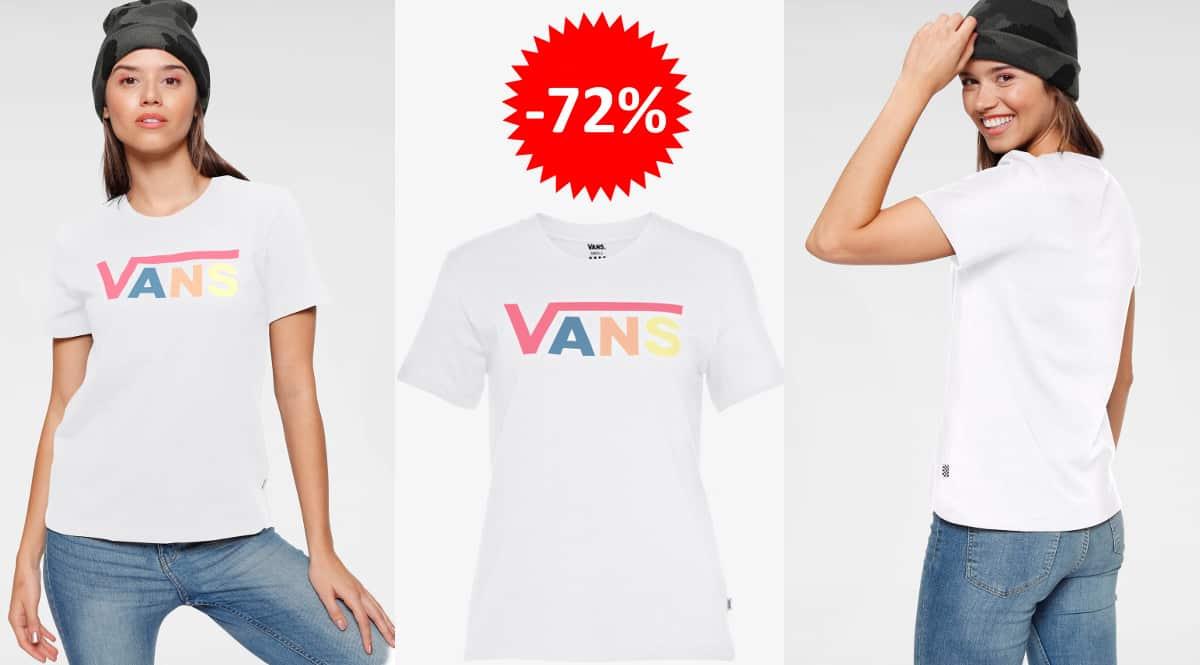 Camiseta Vans para mujer barata, ropa de marca barata, ofertas en camisetas chollo
