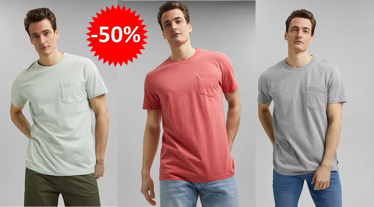 Camiseta básica Esprit barata, camisetas de marca baratas, ofertas en ropa, chollo