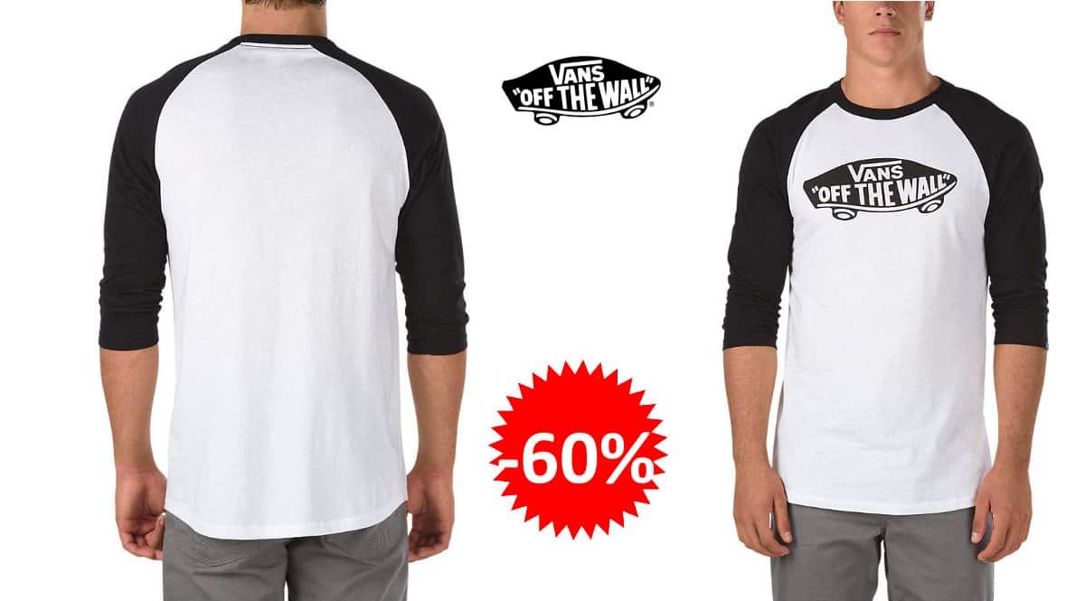 Camiseta para hombre Vans Otw Raglan barata, camisetas de marca baratas, ofertas en ropa, chollo