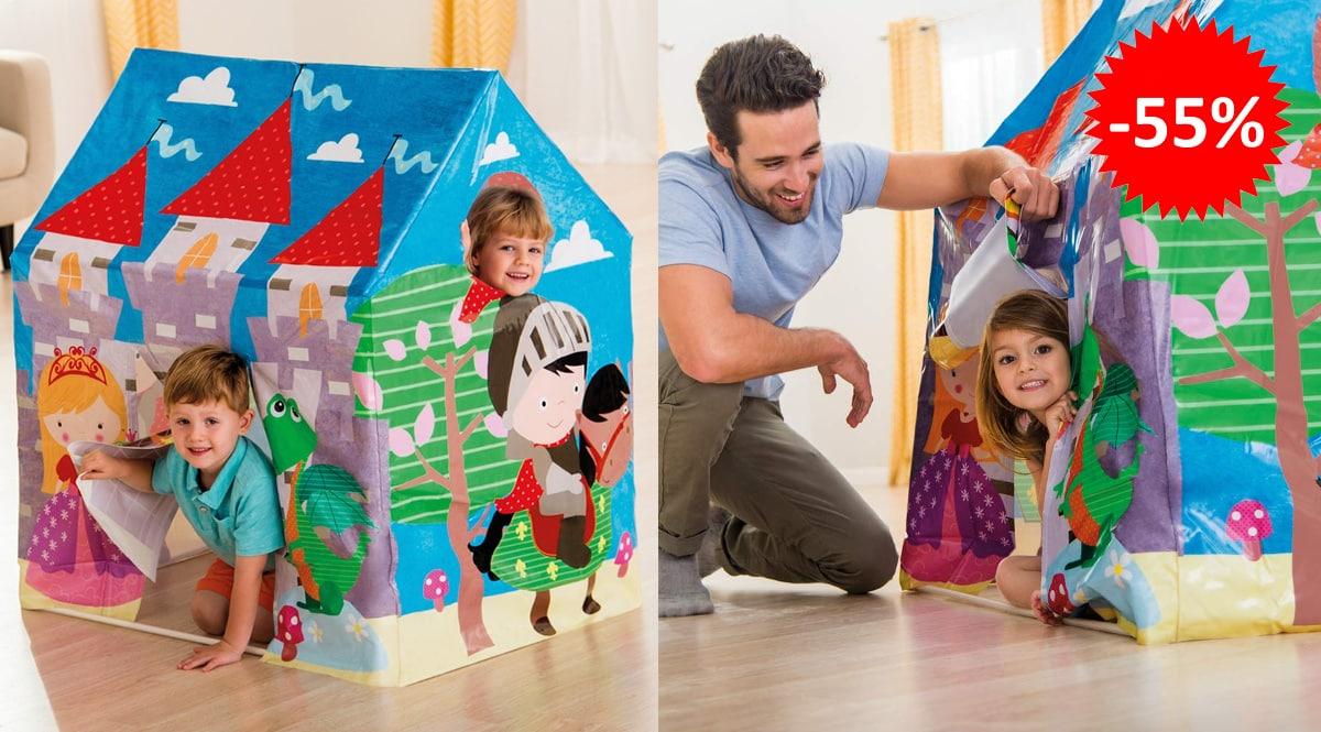 Casita de juegos Intex Castillo Medieval barato, juguetes baratos, ofertas para niños chollo