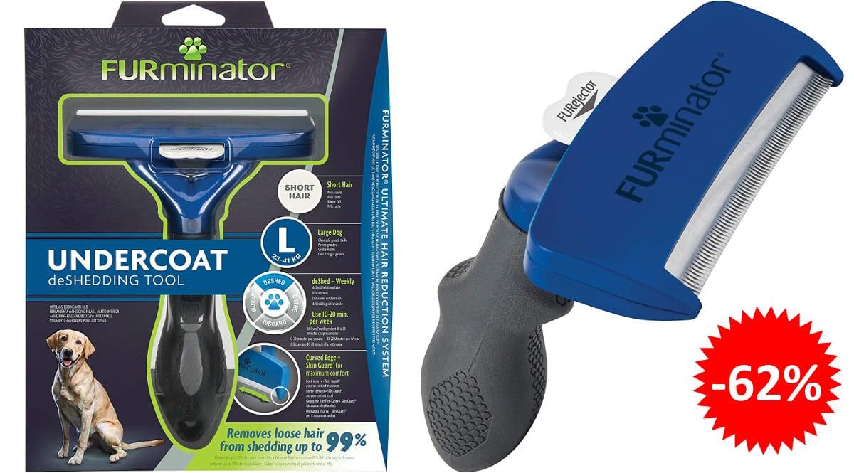 Cepillo FURminator para perros talla L barato, cepillos baratos, ofertas para mascotas chollo1