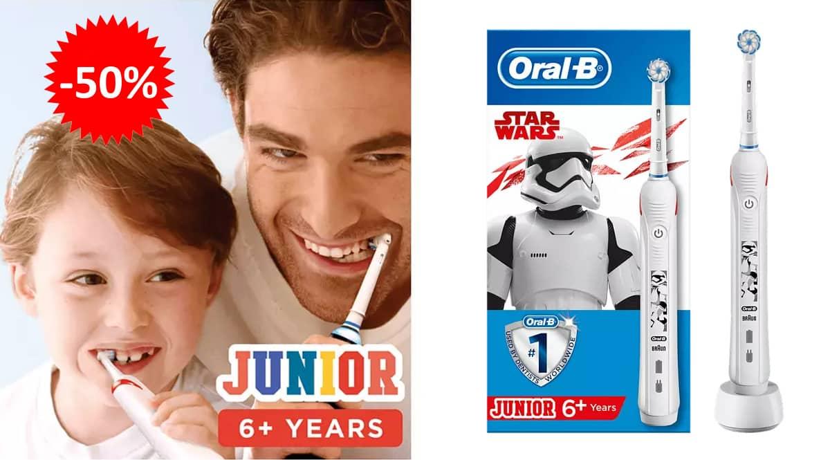 Cepillo de dientes eléctrico Oral-B Junior Star Wars barato, cepillos de dientes baratos, ofertas para niños chollo